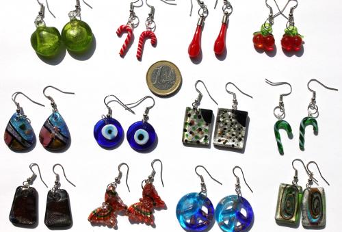 Lampwork style earrings