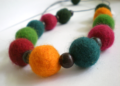 Hand made felt jewelry for Christmas market, great gift