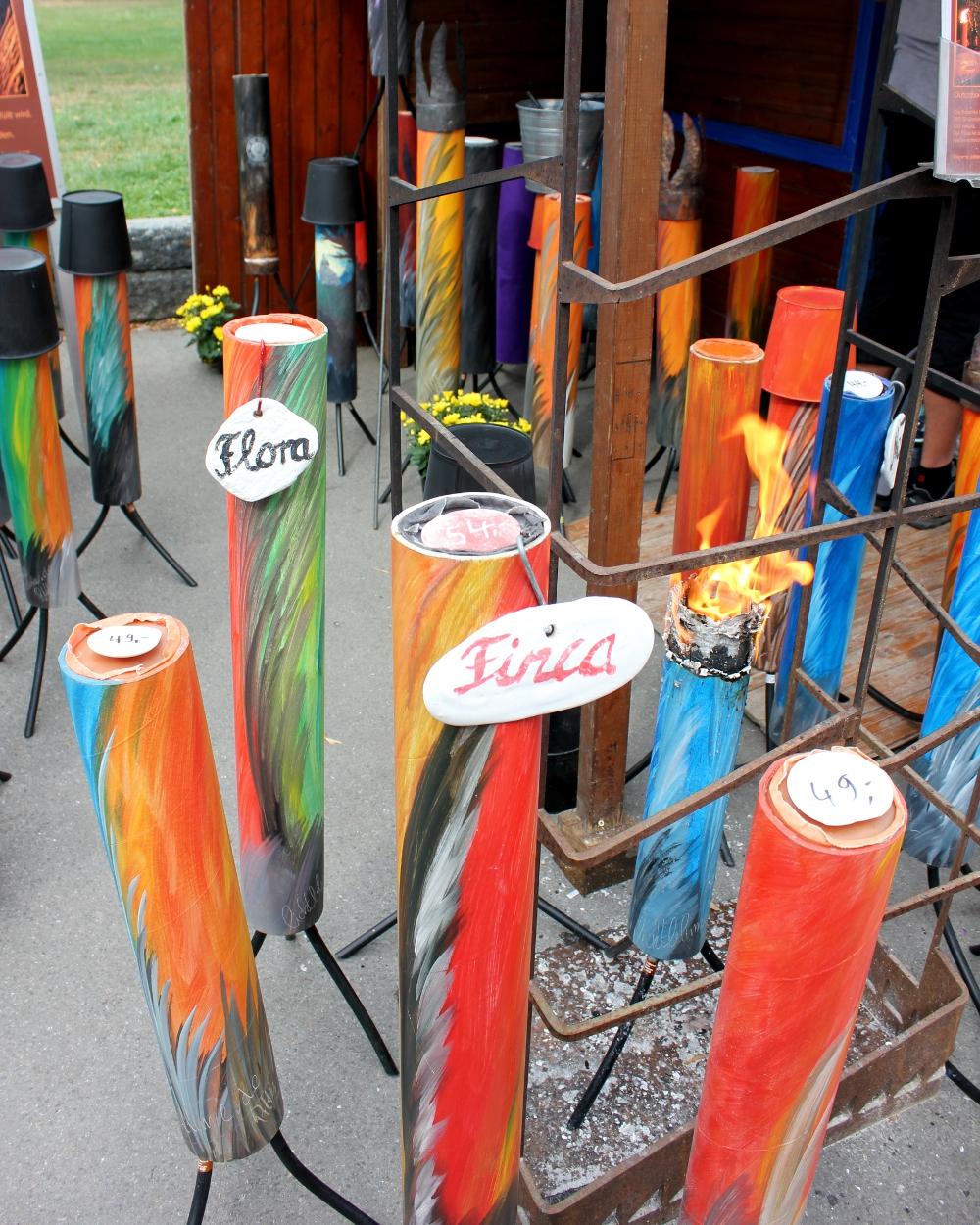 Garden torch at display