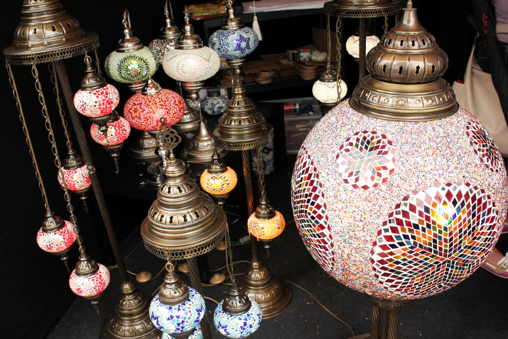 Beautiful moroccon lights at a market