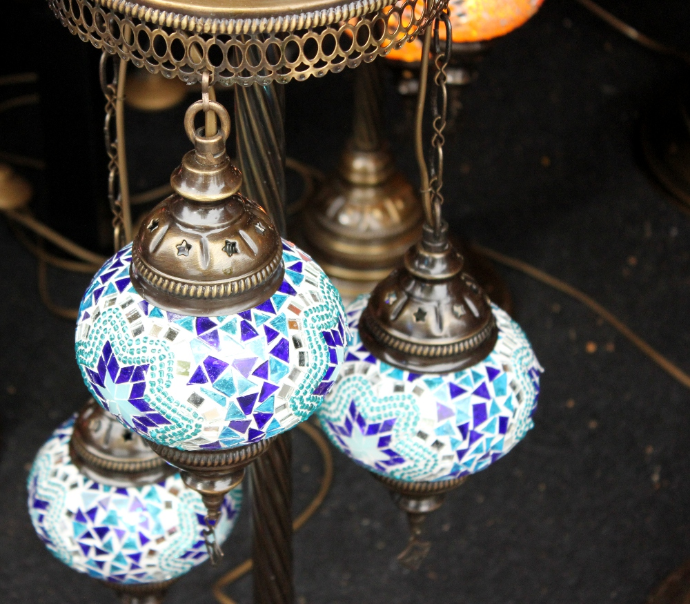 Mosaic lamp shades from Morocco
