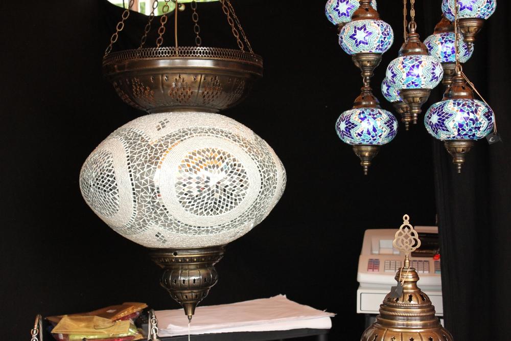 Huge lamp at display