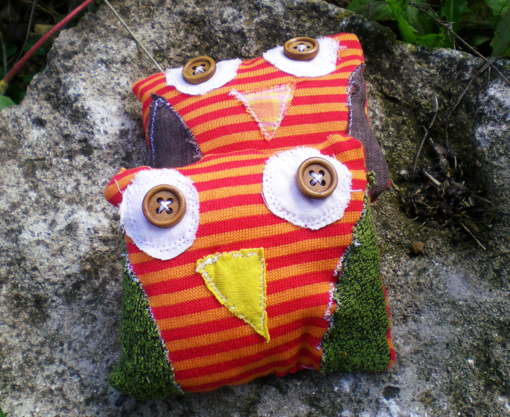 Owl plush toy hand made